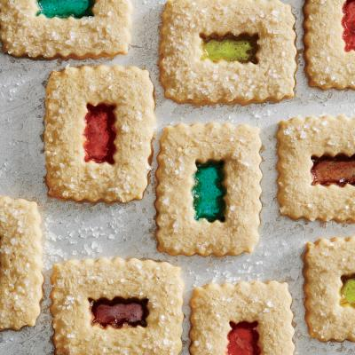 stained glass window cookies - Creative Christmas Cookies