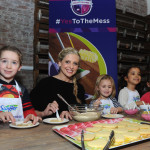 "Sarah Michelle Gellar joins Swiffer as program ambassador at its ""Yes to the Mess"" event, Wednesday, Feb. 3, 2016, in New York, where kids were encouraged to take part in messy activities, such as cookie decorating, because with Swiffer you can get a thorough clean in minutes. (Photo by Diane Bondareff/Invision for Swiffer/AP Images)"