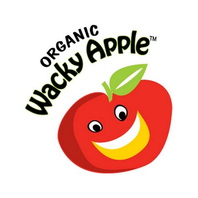 Wacky apple logo