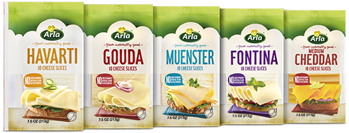 arla sliced cheese
