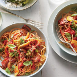 mostly-veggie-pasta-with-sausage