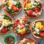Cooking Light: Mini Mozzarella-and-Kale Pita Pizzas