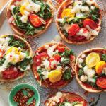 Cooking Light: Mini Mozzarella-and-Kale Pita Pizzas